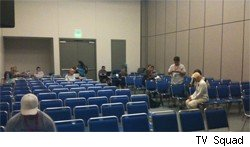 The press room at Comic-Con is half empty but still useful
