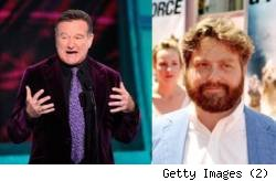 Robin Williams and Zach Galifianakis
