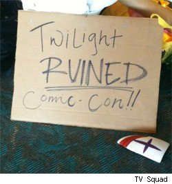 Not everyone at Comic-Con International was a fan of Twilight.