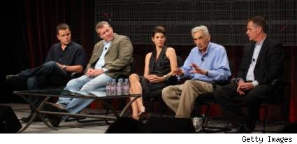 Matt Damon, Chris Moore, Marisa Tomei, and Howard Zinn on The People Speak TCA panel