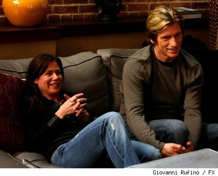 Maura Tierney and Denis Leary