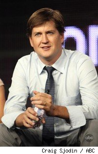 Bill Lawrence at TCA session for Cougar Town