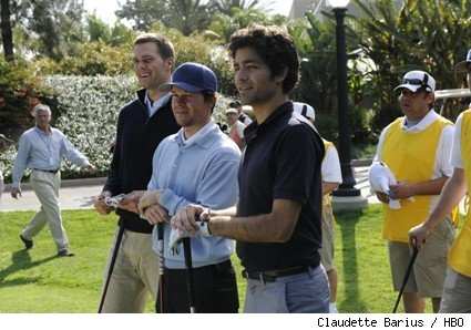 Tom Brady, Mark Wahlberg, and Adrian Grenier