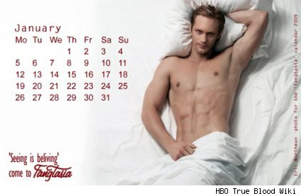 True Blood Wiki - Eric Northman, Mr. January, Fangtasia Calendar