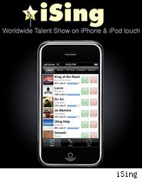 The new iSing app brings American Idol-style competition to the iPhone.