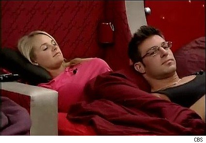 Jordan and Jeff relax in the Big Brother 11 house