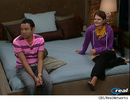 Kevin and Michele in the HOH room.