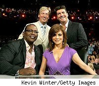 Randy Jackson, Nigel Lythgoe, Paula Abdul and Simon Cowell (l to r)