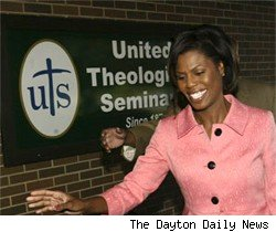 Omarosa at her first day at seminary school.