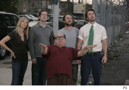 Danny DeVito and the gang from Always Sunny