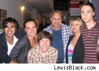Lewis Black and the Big Bang Theory cast