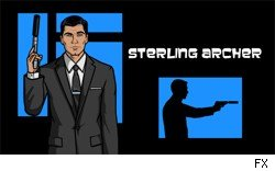 Sterling Archer, as voiced by Jon Benjamin.