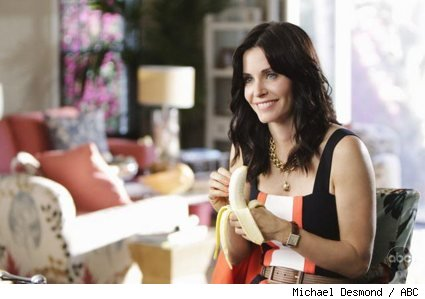 Courteney Cox in Cougar Town pilot