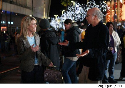 Cheryl Hines and Larry David