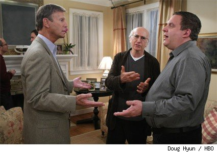 (L-R): Bob Einstein, Larry David, and Jeff Garlin