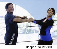 Tom Delay training for Dancing with the Stars