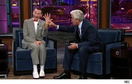 Pee Wee Herman and Jay Leno