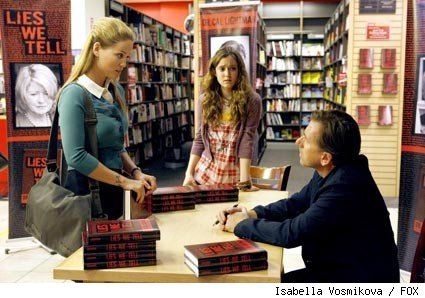 Erika Christensen, Hayley McFarland, and Tim Roth in the season two premiere of Lie to Me.