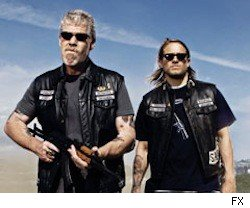 Clay and Jax on Sons of Anarchy