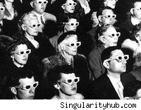 A 3D movie crowd