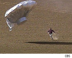 An Adams County sheriff's deputy chases down a UFO shapped balloon thought to have carried the 