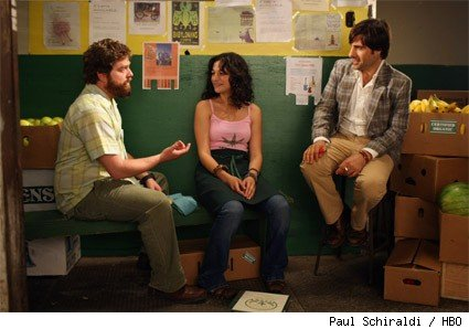 Zach Galifianakis, Jenny Slate, and Jason Schwartzman