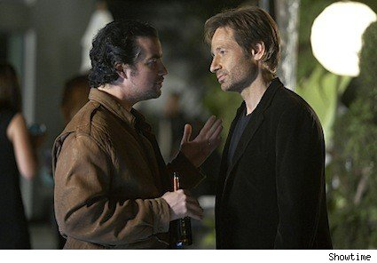 Kevin Corrigan and David Duchovny on Californication