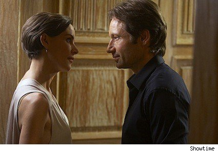 Embeth Davidtz and David Duchovny on Californication