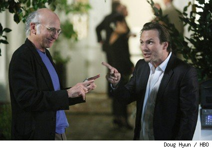 Larry David and Christian Slater