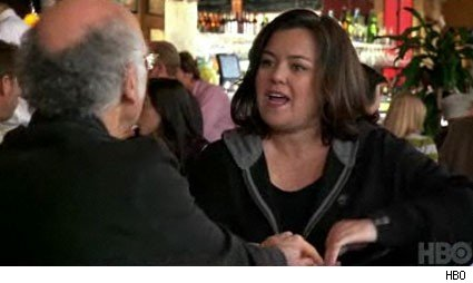 Larry David and Rosie O'Donnell