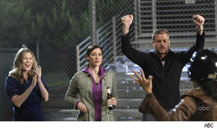 A lighthearted moment at Grey's Anatomy.