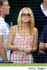 Kate Hudson watching A-Rod at the