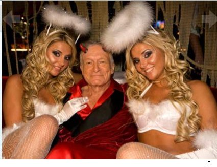 Hugh Hefner and his Girls Next Door