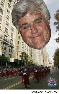 Jay Leno is a hot air balloon