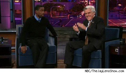 Chris Rock with Jay Leno