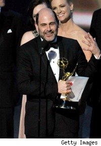 Matthew Weiner accepting the Emmy for Best Drama for Mad Men
