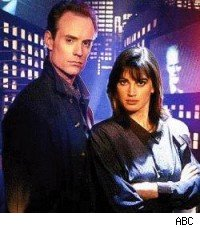 Matt Frewer and Amanda Pays, Max Headroom