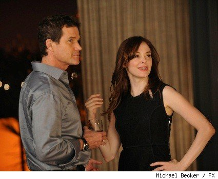Dylan Walsh and Rose McGowan