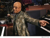 Paul Shaffer on the Late Show
