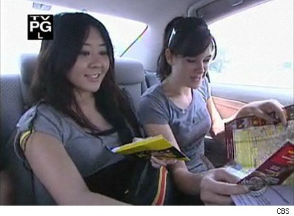 Maria and Tiffany on their way in The Amazing Race