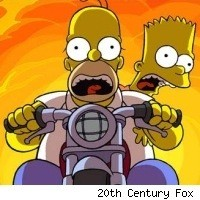 Bart and Homer in The Simpsons Movie