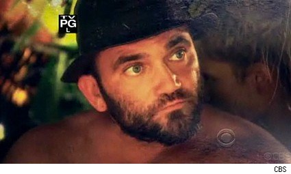 Evil Russell dressed for success on Survivor Samoa