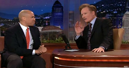 Conan O'Brien interviews Newark Mayor Cory Booker on 'The Tonight Show'