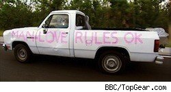 Richard Hammond's infamous pickup truck on the American Road Trip episode of Top Gear