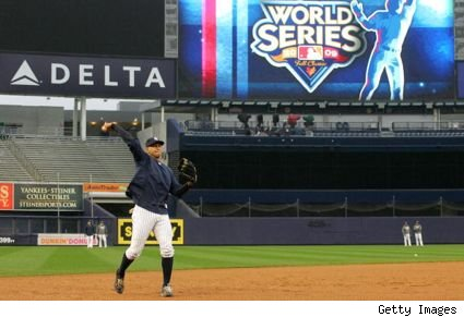 A-Rod working out before World Series Game 1 at Yankee Stadium
