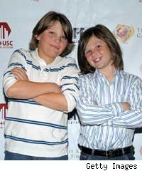 Chance and Connor King, sons of Larry King 