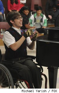 Kevin McHale as Artie on Glee. From the episode