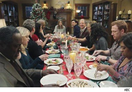 The Seattle Grace family celebrates Christmas