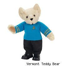The Spock teddy bear wants you to live long and snuggle.