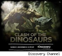 Discovery Channel will be throwing dinosaurs at each other for the holidays.
